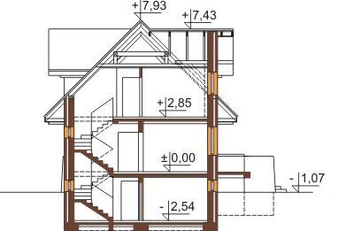 Projekt domu DM-6362 - przekrój