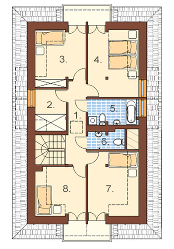 Projekt domu DM-6362 - rzut
