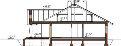 Projekt domu DM-6471 - przekrój