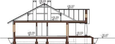 Projekt domu L-6471 - przekrój