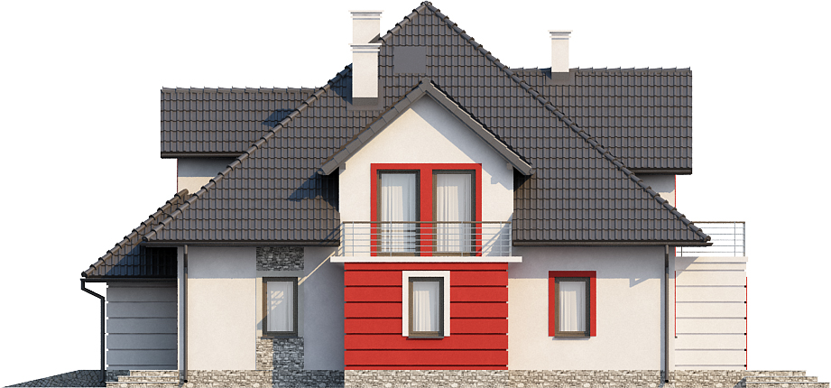 Projekt domu DM-6439 - elewacja