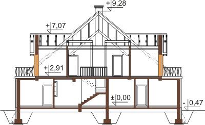 Projekt domu DM-6439 - przekrój