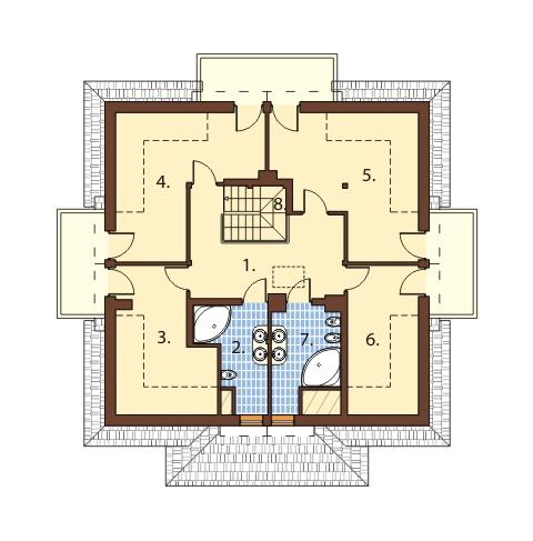 Projekt domu DM-6439 - rzut