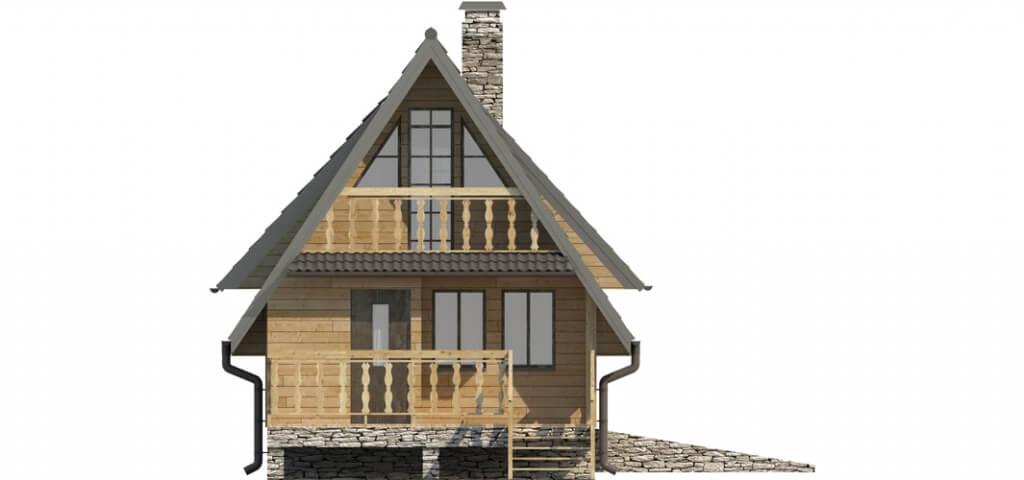 Projekt domu DM-6119 - elewacja