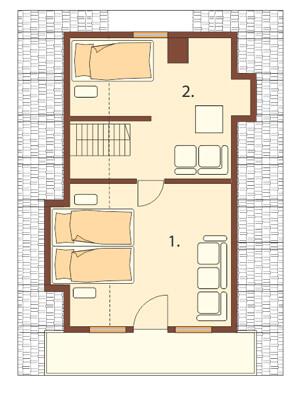 Projekt domu DM-6119 - rzut