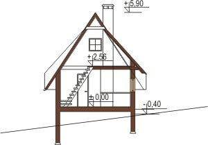 Projekt domu DM-6119 - przekrój