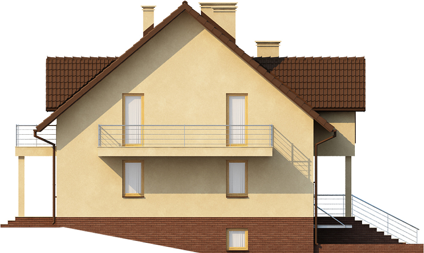 Projekt domu L-6398 - elewacja