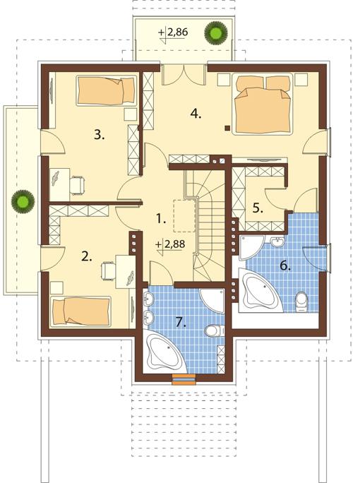 Projekt domu L-6398 - rzut