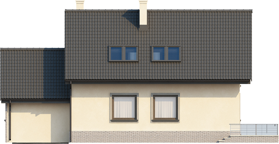 Projekt domu L-6434 - elewacja