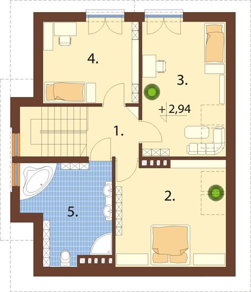 Projekt domu L-6434 - rzut
