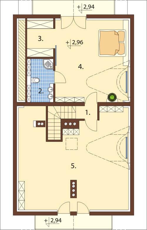 Projekt domu DM-6353 - rzut