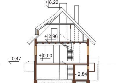Projekt domu DM-6353 - przekrój