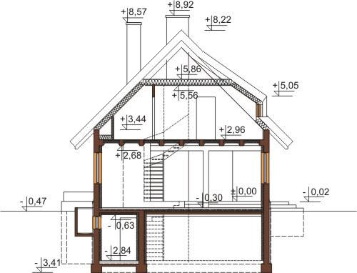 Projekt domu L-6353 - przekrój