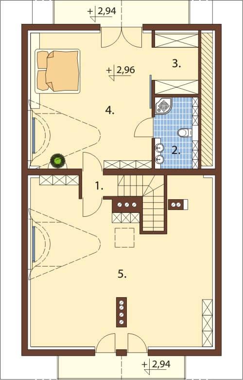 Projekt domu L-6353 - rzut