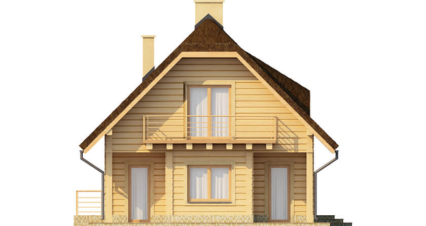 Projekt domu L-6353 - elewacja