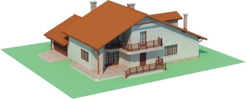 Projekt domu L-6400 - model