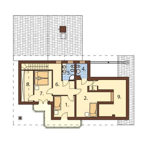 Projekt domu L-6400 - rzut