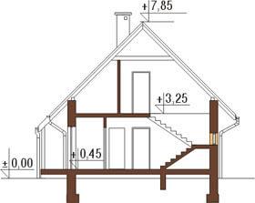 Projekt domu DM-6122 - przekrój