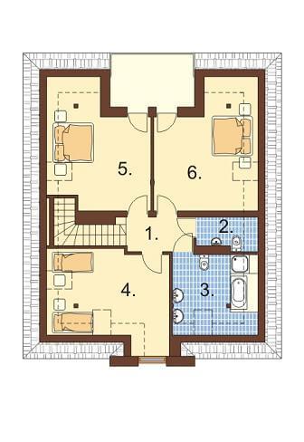 Projekt domu DM-5530 - rzut