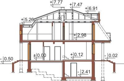 Projekt domu DM-5530 - przekrój