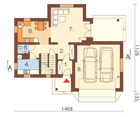 Projekt domu DM-6469 - rzut