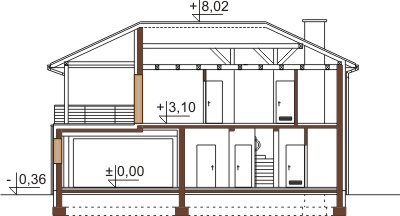 Projekt domu DM-6469 - przekrój