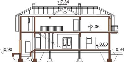 Projekt domu DM-6474 - przekrój