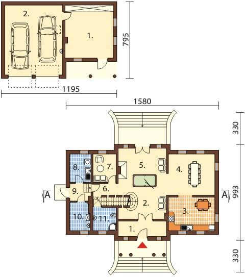 Projekt domu L-6474 - rzut