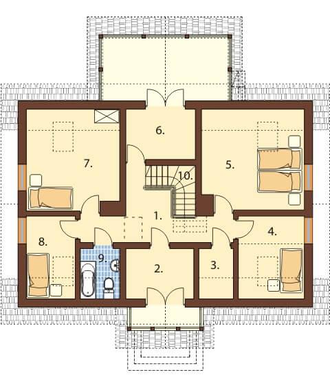 Projekt domu L-6480 - rzut