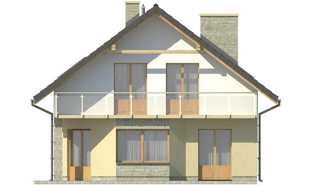 Projekt domu DM-6125 - elewacja