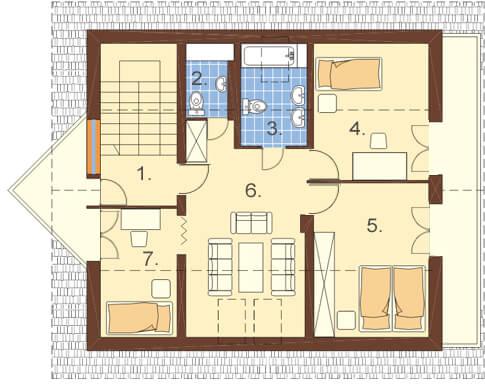 Projekt domu DM-6125 - rzut