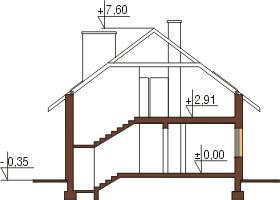 Projekt domu DM-6125 - przekrój