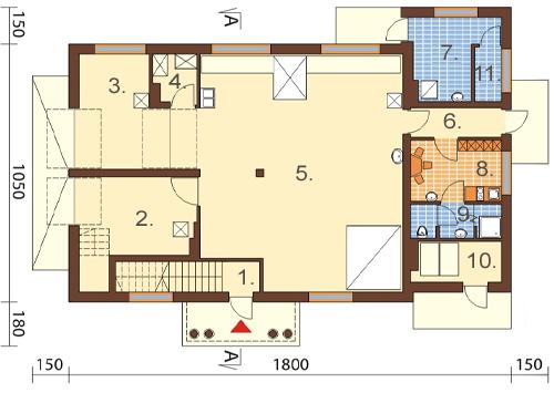 Projekt domu DM-6483 - rzut