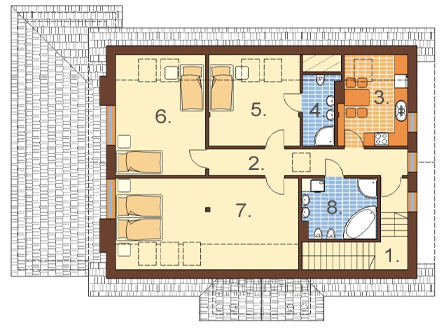 Projekt domu L-6483 - rzut