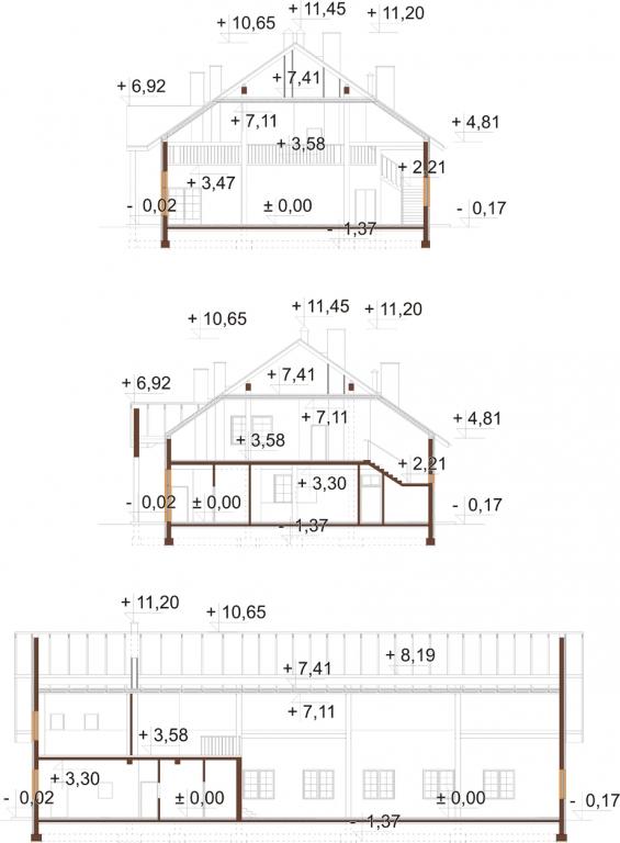 Projekt LK-24 - przekrój