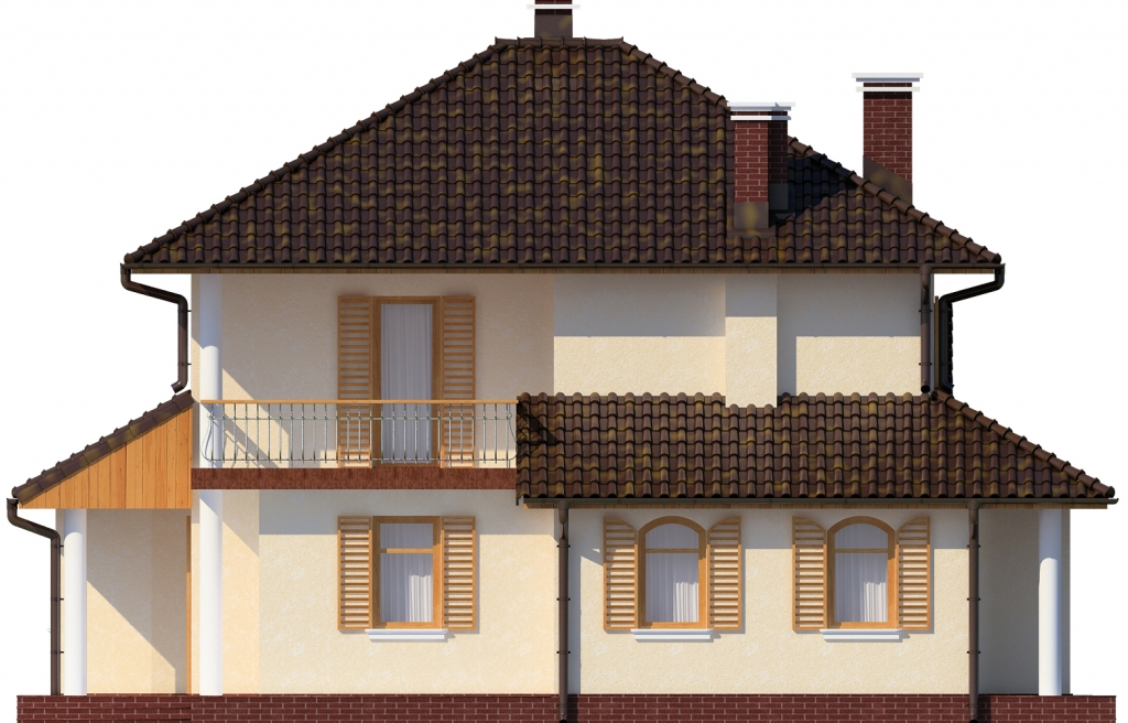 Projekt domu L-6455 - elewacja