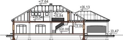 Projekt domu L-6484 - przekrój