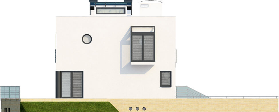 Projekt domu DM-6129 - elewacja