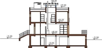 Projekt domu DM-6129 - przekrój