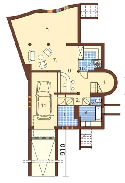 Projekt domu DM-6129 - rzut