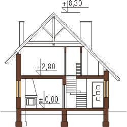 Projekt domu DM-6130 - przekrój