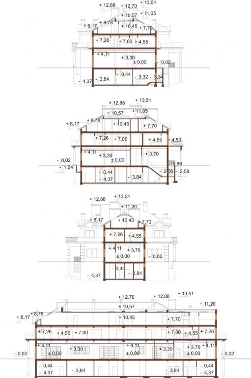 Projekt LK-12 B - przekrój