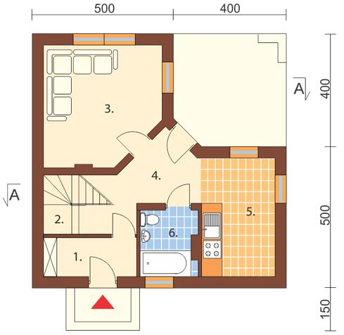 Projekt domu DM-6131 - rzut