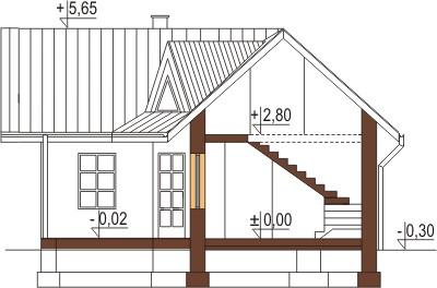 Projekt domu DM-6131 - przekrój