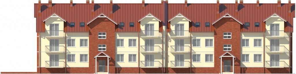 Projekt domu DM-6487 - elewacja