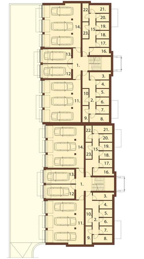 Projekt domu DM-6487 - rzut