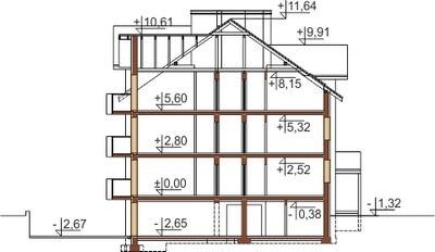 Projekt domu DM-6487 - przekrój