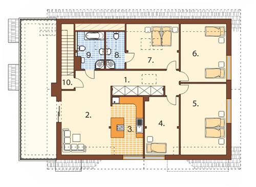 Projekt budynku produkcyjno mieszkalnegoStolarnia z mieszkaniem, LK-35, pow. uż. 319.30 m2 ...