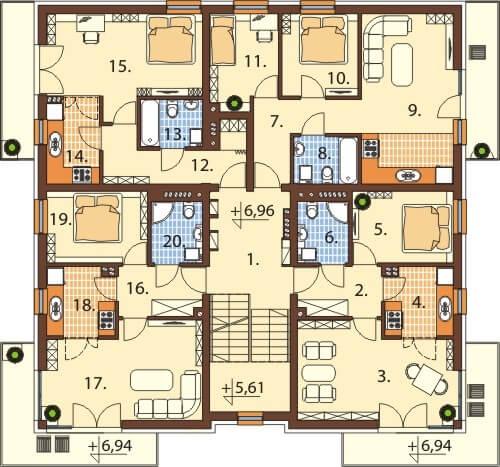 Rzut II piętra