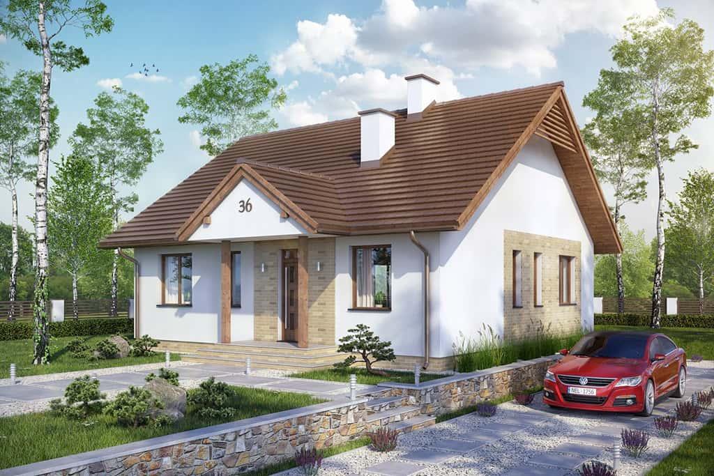 Projekt domu groszk w dm 6560 pow u m2 for Nuove case a un piano